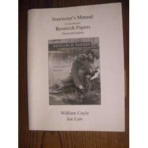 Research Papers (9780321245120): William Coyle & Joe Law: Books