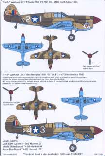 World Decals 1/72 CURTISS P 40F WARHAWK 79th FG North Africa #1