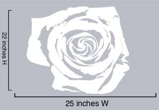 Vinyl Wall Decal Sticker White Rose Flower Floral 22x25