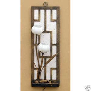 White Rice Paper Wall Mount Hanging Art Accent Deco Lantern Handmade