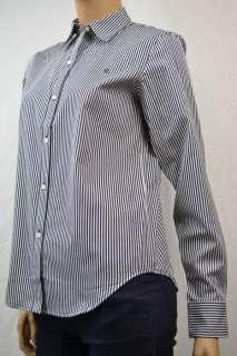 Ralph Lauren Navy Blue White Stripe Long Sleeve Shirt NWT XL