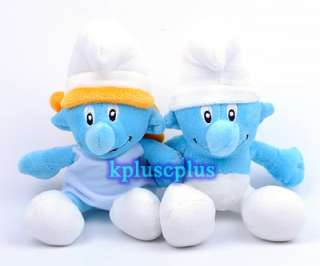 Smurf Anime Plush Soft Doll 8.5  Set of 2