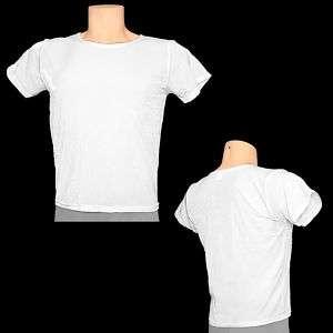 Mens White Dance Short Sleeve T, Shirt Top, Gymnastics