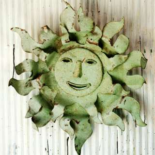 Med. Tin Sun Face, Metal Home & Garden Folky Wall Art   Indoor