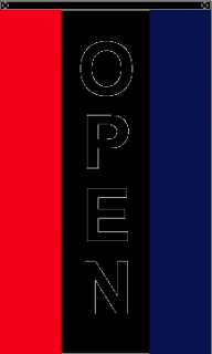 High Quality Nylon RWB Vertical Open Flag