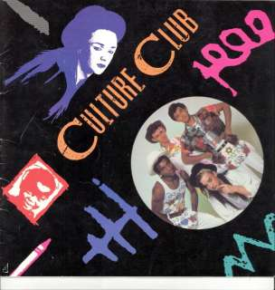 CULTURE CLUB 1983 COLOUR BY NUMBERS TOUR PROGRAM BOOK