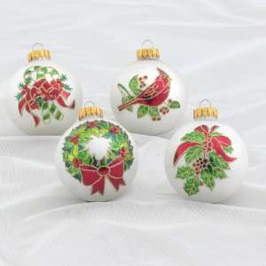 Club Pack of 24 Traditional Holiday Glass Ball Christmas Ornaments 2.5
