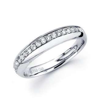 18k White Gold Diamond Engagement Wedding Ring Band Set