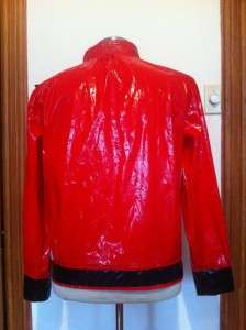 MICHAEL JACKSON VINYL SHINY THRILLER JACKET MENS MEDIUM