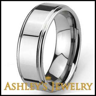 Tungsten Carbide Rings 8mm Band Polished Size 11 Ring
