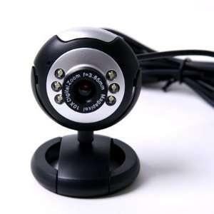 HDE 6 LED USB PC Webcam Web Camera + Night Vision for Desktop