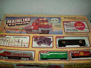 MAINLINE EXPRESS TRAI SET SANTA FE LOCO & 3 CARS HO SCALE #8750