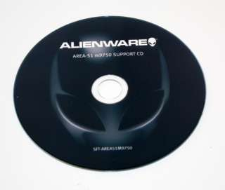 Alienware Area 51 M9750 SUPPORT CD SFT AREA51M9750