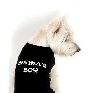 Dog Shirt   Black Dog Tank Style Shirt Mamas Boy   X