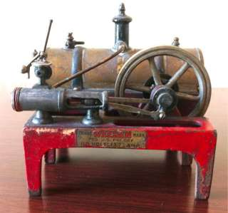 Pre War Weeden Cast Iron Base Brass Boiler Horizontal Live Steam