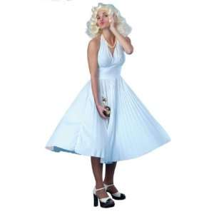 Marilyn Monroe White Fancy Dress Costume Size US 8 10