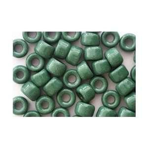 Dark Green Opaque Czech Glass Crow Pony Beads: Arts, Crafts & Sewing