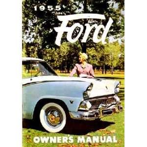 1955 FORD PASSENGER CAR Owners Manual User Guide Automotive