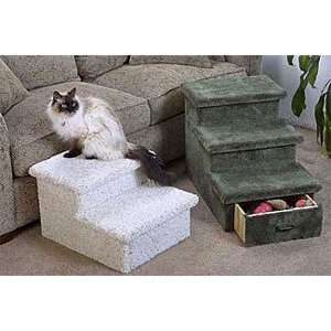 or 3 Level Pet Step with Optional Drawer  Color NATURAL  Size 2 STEP