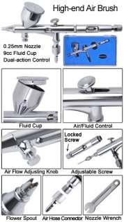in title description multi purpose dual action airbrush kit w air