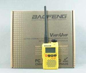 Dual Display (Mark II) Dual Band VHF/UHF 2 Way Radio(Yellow color