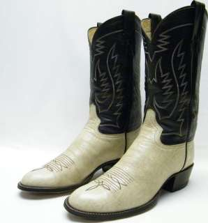 MENS ADAMS OFF WHITE COWBOY WESTERN BOOTS SZ 10D 10 D