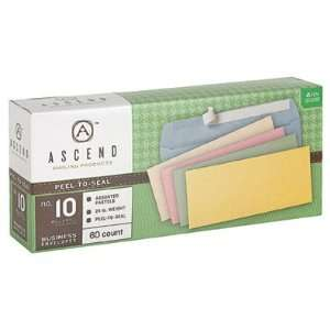 Ascend 10% Recycled Assorted Pastels Peel N Seal #10 (4 1