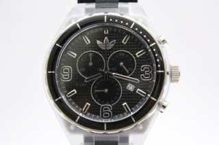 Adidas Cambridge Men Originals Chrono Black Rubber Band Watch Date
