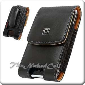 for MOTOROLA ADMIRAL XT603 SPRINT BLACK LEATHER COVER CASE POUCH