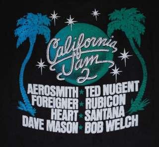 VTG CALIFORNIA JAM 2 FESTIVAL T  SHIRT AEROSMITH 1978 S