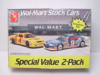 AMT Wal Mart Stock Cars 2 Pack Model Kit 6727 6740 Ertl