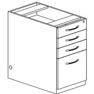 Credenza Pencil/Box/Box/File Pedestal: Office Products