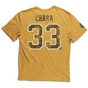 Classic Retro Name and Number T shirt   BOSTON BRUINS GOLD Large