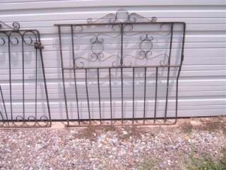 Vintage Heavy Wrought Iron Gate, Houston Texas Estate