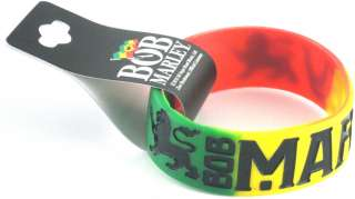 Bob Marley Lions Wristband Silicone Rubber Bracelet