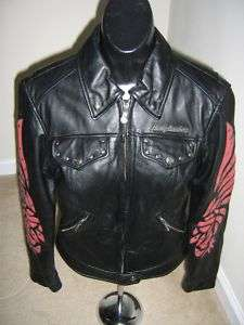 WOMENS HARLEY DAVIDSON LEATHER JACKET SZ XS NICE