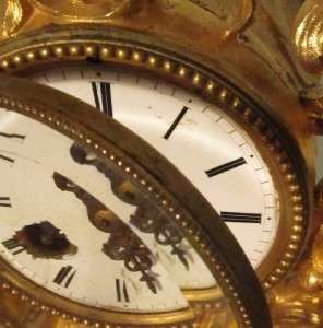 Gilt Bronze Mantel Clock Vincenti Clockworks NO RESERVE!