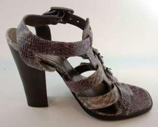 Victor Alfaro Brennan Grey Purple Leather Shoes NEW
