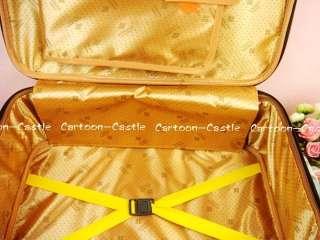 Winnie The Pooh Luggage Bag Baggage Trolley Roller Set
