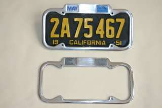 1951 1955 YOM CALIFORNIA Month Year License Plate Frame
