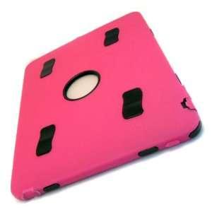 Apple iPad 1 1st Gen Hot Pink Box Rubberized Feel Rubber