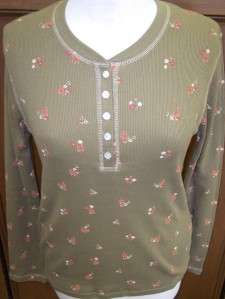 Womens all cotton long sleeve shirt top sz S,M,L,XL NWT