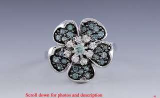 QUALITY LE VIAN DIAMOND & EMERALD FLOWER RING