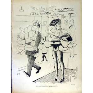 LE RIRE FRENCH HUMOR MAGAZINE LADY COSTUMES SHOPPING