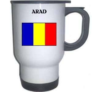 Romania   ARAD White Stainless Steel Mug Everything
