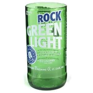 Rolling Rock Light Beer Bottle Tumbler Glassware Set 4