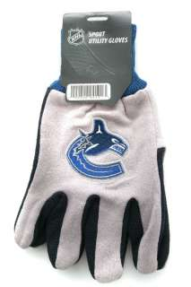 Team Gloves with Rubber Dot Palm Grip   Logo   Assorted Teams
