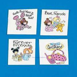 36 Slumber Party Best Friend Girl Tattoo Birthday Favor