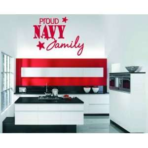 com Proud Navy Family Patriotic Vinyl Wall Decal Sticker Mural Quotes