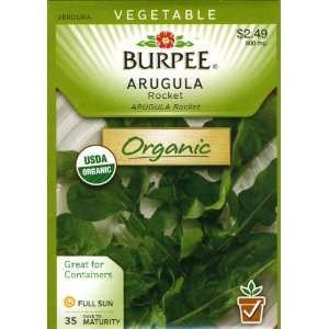 Burpee 60037 Organic Arugula Roquette Seed Packet Patio